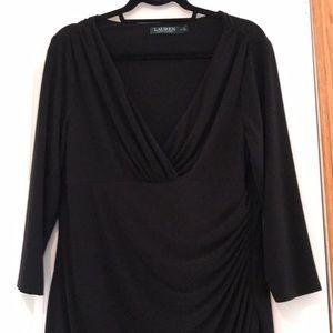 Ralph Lauren Size 16 Black Dress